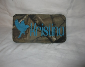 Camo Personalized Hard Wallet Covered, Realtree, Mossy Oak