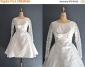 SALE - 60s short wedding dress / 1960s dress / Rosie