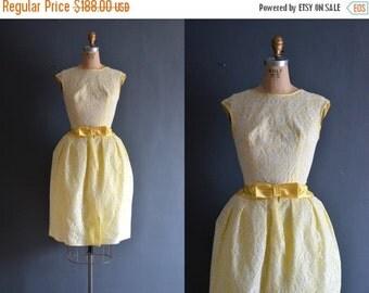 SALE - 60s yellow dress / vintage 50s yellow dress