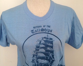 Vintage 1980 Boston Tall Ships Tshirt