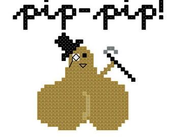 Proper Bullocks - Pip-pip Cross stitch pattern