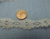 Gaël Miniature dollhouse supplies Vintage French Lace. Vintage Scalloped Lace Trim Edging for Dollsmaking
