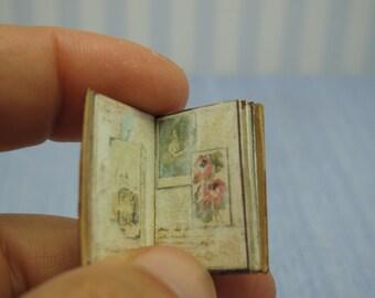 Gaël Miniature shabby chic journal book 1:12 Dollhouse Miniature gotic book handmade