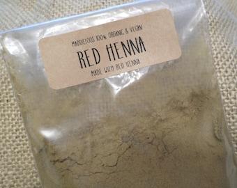 Vegan-ORGANIC RED HENNA Hair Colorant Powder-3oz.