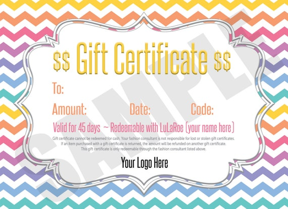 LuLaRoe Cash, LuLaCash, Printable LuLa Cash, LuLaRoe Gift Card ...