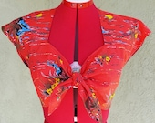1940's style Tie Top - Custom Made to your Measurements- Fabric of your choice- sizes XS-XL