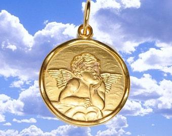 14k Yellow Gold 16mm wide Ralphael Angel Pendant