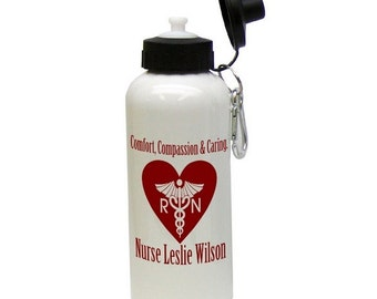 Customized Nurses Aluminum Water Bottle