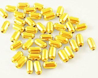 500PC 4.8X2.4mm gold finish iron made beads-10352