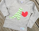 Limited Edition Valentine's Day Dinosaur Love Shirt For Boy's Baby, Toddler, Youth