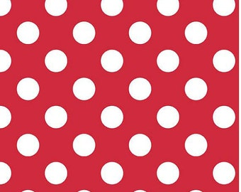 Riley Blake Red Medium Dot, Fabric by the Yard