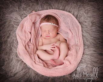 Blush RTS Stretchy Soft Newborn Knit Wraps 80 colors to choose from, photography prop newborn prop wrap