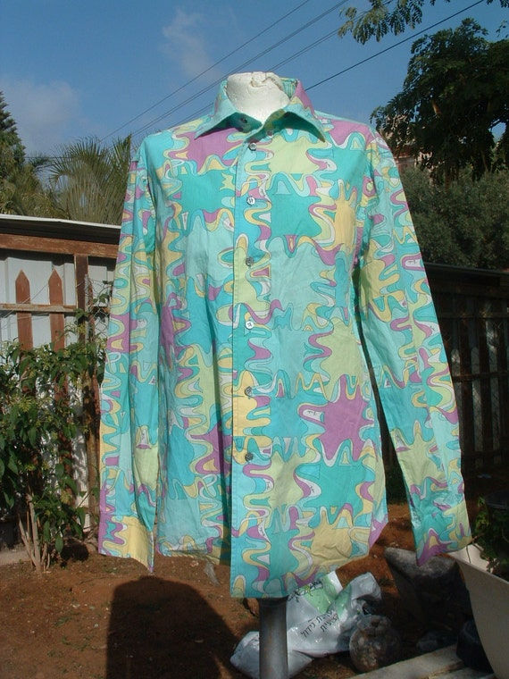 EMILIO PUCCI cotton  blouse   Limited Edition  will be conside CIRCA 1980'S original free shipping