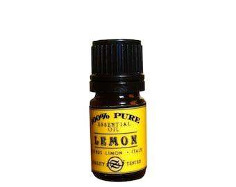 Lemon Five Fold Essential Oil, Citrus limonum, Sicily - 5 ml