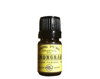 Lemongrass Essential Oil, Cymbopogon flexuosus, India - 5 ml