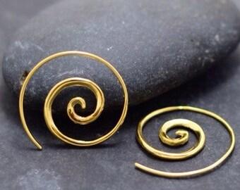 Spiral Earrings 18k Gold