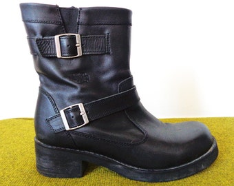 Vtg HARLEY DAVIDSON Motorcycle Boots with Buckles! 9 to 9.5 Women