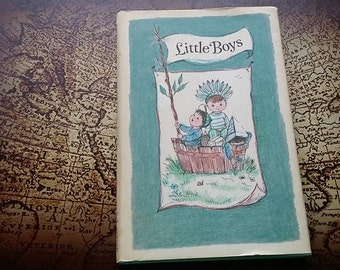 Little Boys 1965 words and pictures by Stina Nagel, The C.R. Gibson Company Norwalk, Connecticut Free shipping in the USA vintage kid's book