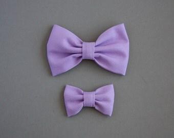 Lavender bow headband or clip