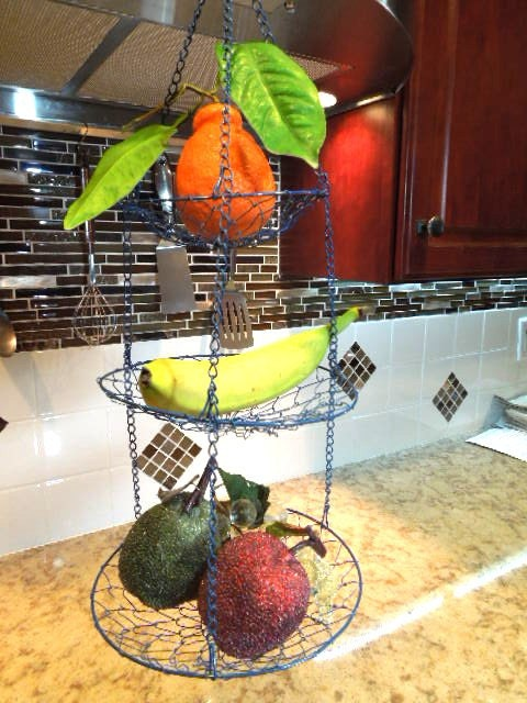Hanging Fruit Basket Wire 3 Tiered Fruit And Vegetable