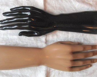 One Male Mannequin Glove Display - Man's Ring, Watch, Jewelry Stand - Choose Tan OR Black Plastic - Wrist, Arm, Hand Form - Photo Prop Men