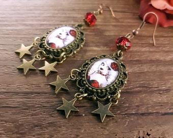 Fizzing Cherry earrings // Cabaret burlesque // Handcrafted