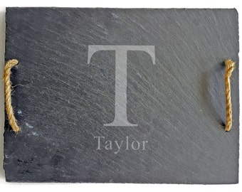 New Home Housewarming Gift Personalized Slate Cheese Board, Personalized Serving Tray, Personalized Wedding Gifts for Couple
