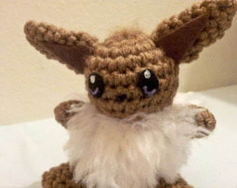Eevee Inspired Crochet Amigurumi Doll - Stuffed/Plush Toy