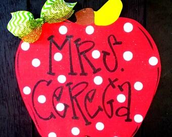 Teacher Gifts   Teacher Appreciation Gift   Teacher Classroom Sign   Teacher Wreath   Teacher Wood Sign   Teacher Name Sign