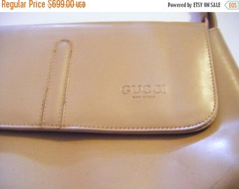 25% Off Storewide Sale Vintage Leather GUCCI Shoulder Bag Hand Bag Purse Made In Italy