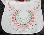 Table runner, Edwardian runner, Hand embroidered, linen runner, 1920s decor, Victorian decor, hand made runner, rare, 36x12, French knots
