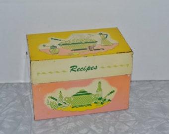 Pink J Chen Recipe Box ~ Vintage Recipe Box ~ Pink Kitchen ~ Epsteam