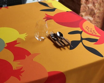 Tablecloth - Square tablecloth - Table cloth - Red tablecloth - Yellow  table cloth- Table cover - Black tablecloth - Rectangle tablecloth