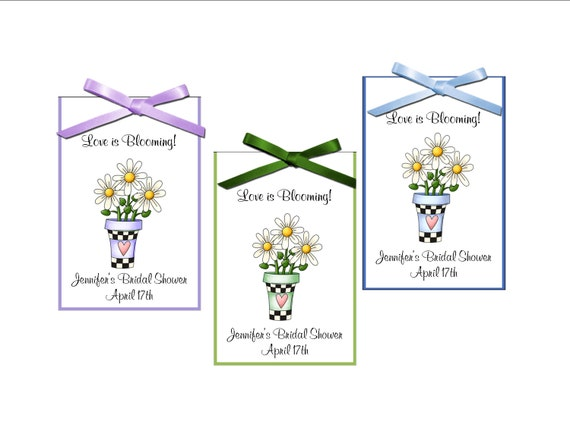 Seed Packet Bridal Favors Daisies Country Wedding Shabby