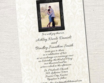 Custom Photo Wedding Invitations Print Your Own File Or
