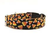Halloween Dog Collar, Candy Corn, Halloween, Dog Collar, Adjustable Dog Collar