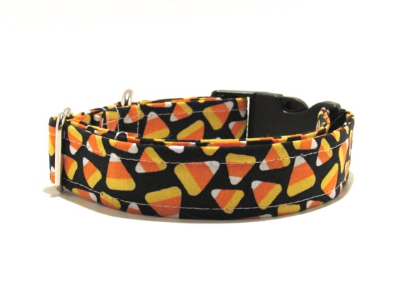 Halloween Dog Collar, Candy Corn, Halloween, Dog Collar, Adjustable Dog Collar
