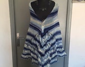 Very large shawl knit hand