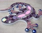 Gecko Lizard Mosaic Garden Ornament, Wall Plaque, Hanging decoration,
