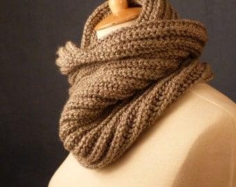 Chunky knit Neckwarmer, Chunky knit Cowl,  knit snood - ready to ship