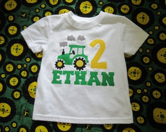 Custom Personalized Tractor Birthday Onesie/Shirt