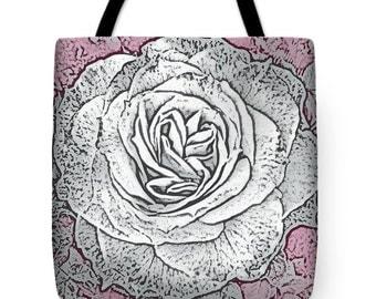 Gift Idea Ritzy Rose Decorative Tote Purse Bag