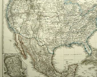 Indian Territory Map Etsy - Us map of indian territories