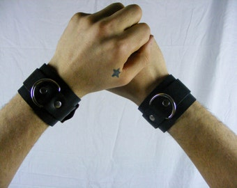 Genuine Leather cuffs (PAIR)