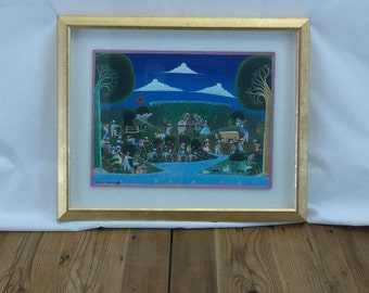 Colorful Mexican Original Folk Art Isidro Salvador Oaxaca