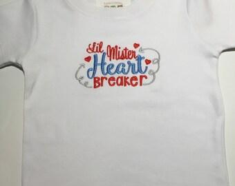 Lil Mr Heartbreaker Shirt or Onesie, Valentines Day shirt or onesie