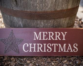 Merry Christmas SignWith Star