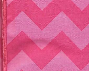 Cloth Napkins: Two Tone Pink Chevron