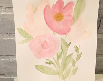 Bloom (Piece 1) 8x10 Watercolor Painting
