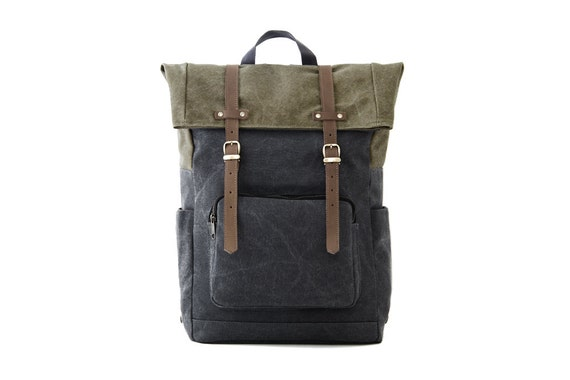 CITYCARRY Laptop Backpack / Gray Canvas